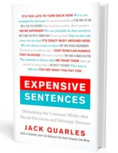 Expensive Sentences book cover image; author Jack Quarles